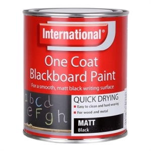 Chalkboard paint is a fab way to get your kids mark making. We used 1.5 tins, about £30 for the wall from Homebase.