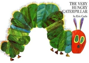 The Very Hungry Caterpillar, an old favourite, and first published in 1969!