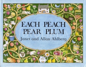 Ties characters from nursery rhymes and fairy tales together ending in a feast of plum pie