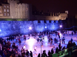 Skating at the Tower of London