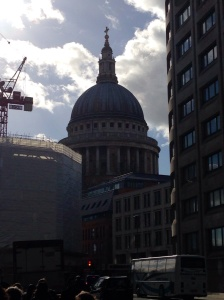 St Paul's looming ahead